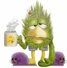 Image result for having a cold cartoon
